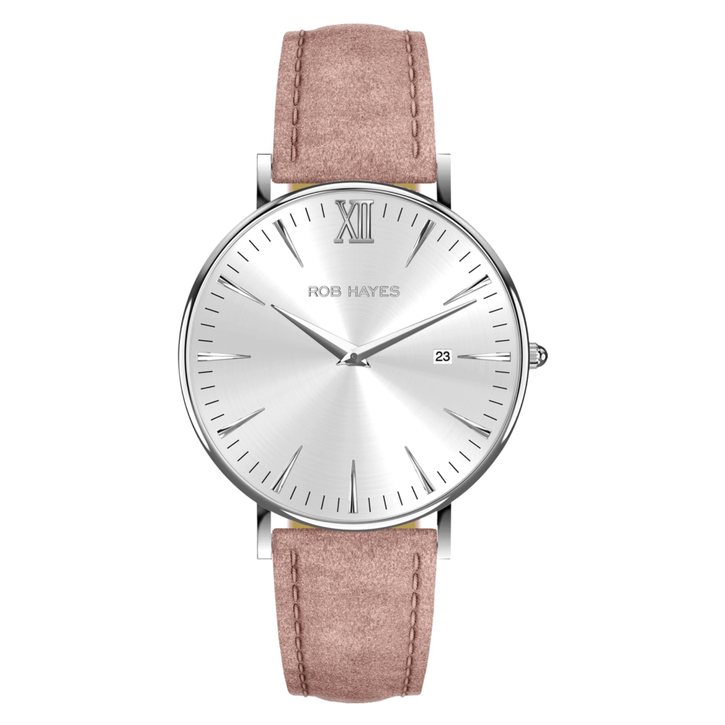 rob-hayes-berkeley-38-mens-womens-ladies-watch-swiss-made-silver-pink-italian-leather