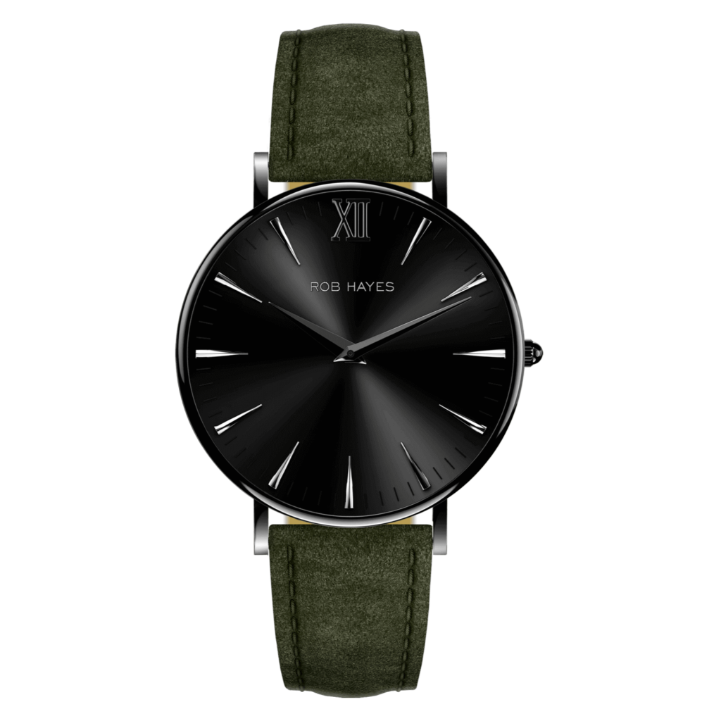 rob-hayes-berkeley-38-leather-watch-black-green-italian-suede-leather-strap